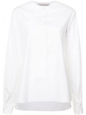 Рубашка без воротника Carolina Herrera. Цвет: белый