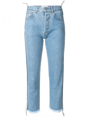 Укороченные джинсы с лампсами Forte Dei Marmi Couture. Цвет: синий