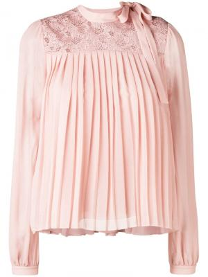 Pleat front blouse Giambattista Valli. Цвет: нейтральные цвета