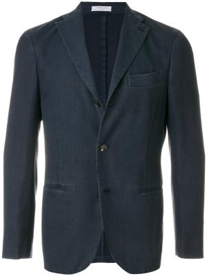 Классический пиджак кроя слим Boglioli. Цвет: синий