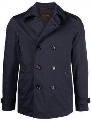 Двубортный пиджак с заостренными лацканами Moorer. Цвет: синий
