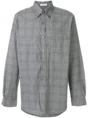 Рубашка с узором в ломаную клетку Engineered Garments. Цвет: серый