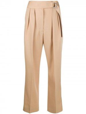 Укороченные брюки с завышенной талией Jil Sander. Цвет: коричневый