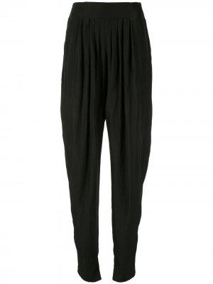 Зауженные брюки LANVIN. Цвет: черный