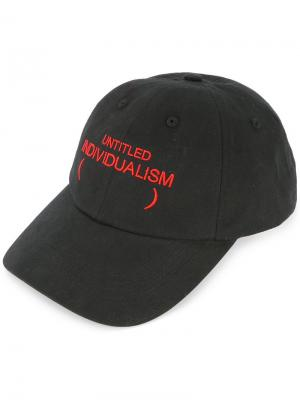 Untitled Individualism baseball cap Ground Zero. Цвет: черный