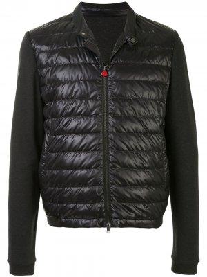 Стеганая куртка с трикотажными рукавами Kiton. Цвет: серый