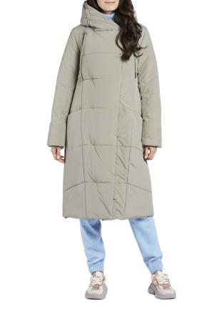 Пальто D`IMMA. Цвет: серо-бежевый