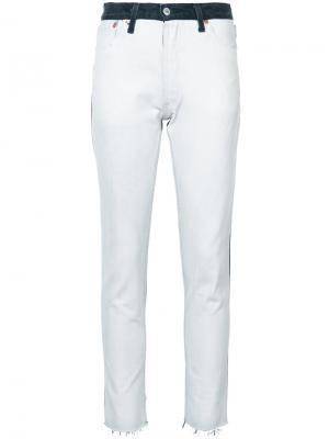Укороченные джинсы скинни Re/Done. Цвет: белый