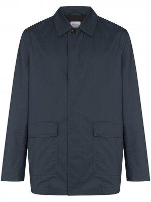 Вощеная куртка с накладным карманом Sunspel. Цвет: синий