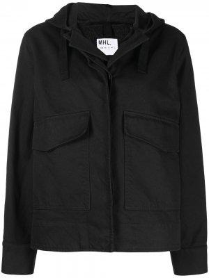 Куртка с капюшоном Margaret Howell. Цвет: черный