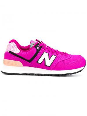Кроссовки 574 Art School New Balance. Цвет: розовый и фиолетовый