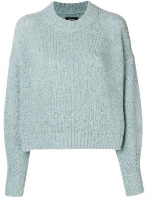 Укороченный свитер Isabel Marant. Цвет: синий
