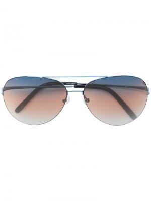 Солнцезащитные очки с контрастной полоской на линзах Matthew Williamson. Цвет: черный