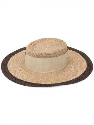 Широкополая шляпа Giorgio Armani. Цвет: коричневый