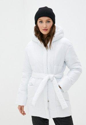 Куртка утепленная TrendyAngel. Цвет: белый