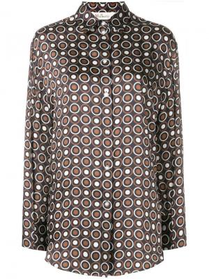Circle patterned shirt Mulberry. Цвет: коричневый