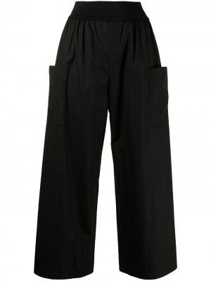 Укороченные брюки с завышенной талией agnès b.. Цвет: черный