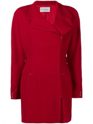 Куртка с застежкой на молнии Gianfranco Ferré Pre-Owned. Цвет: красный