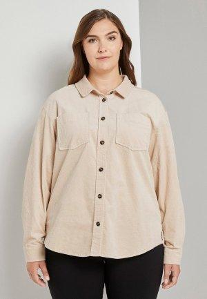 Рубашка Tom Tailor. Цвет: бежевый