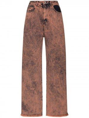 MarquesAlmeida джинсы бойфренды из вареного денима Marques'Almeida. Цвет: оранжевый
