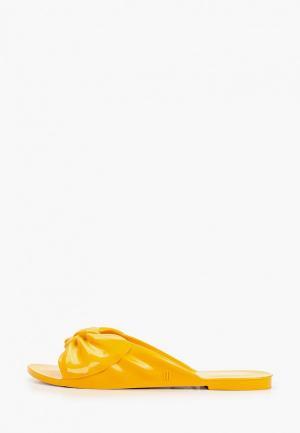 Сланцы Melissa. Цвет: желтый