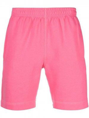 Спортивные шорты с нашивкой-логотипом Styland. Цвет: розовый