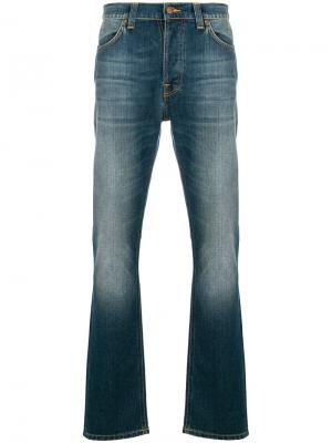 Брюки прямого кроя Nudie Jeans Co. Цвет: синий