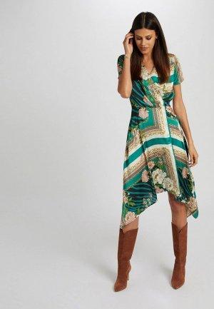 Платье Morgan. Цвет: зеленый