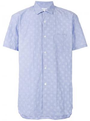Рубашка с короткими рукавами Comme Des Garçons Shirt. Цвет: синий