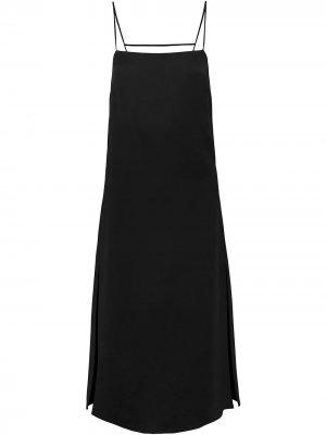 Платье Gabi с цепочками Nicholas. Цвет: черный
