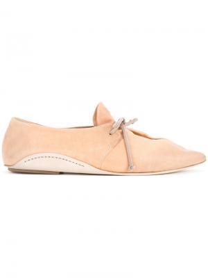 Туфли с заостренным носком Marsèll. Цвет: коричневый