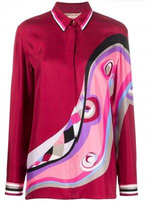 Рубашка с принтом Emilio Pucci. Цвет: красный