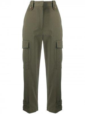 Укороченные брюки с завышенной талией Pt01. Цвет: зеленый