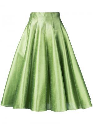 Пышная юбка миди Bambah. Цвет: зеленый
