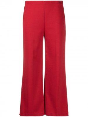 Укороченные брюки широкого кроя LIU JO. Цвет: красный