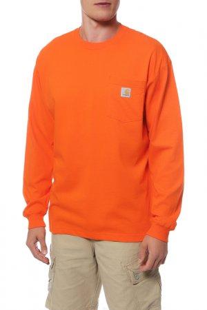 Лонгслив CARHARTT. Цвет: оранжевый