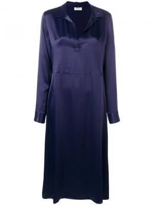 Платье с V-образным вырезом By Malene Birger. Цвет: синий