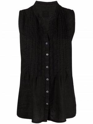 Рубашка без рукавов 120% Lino. Цвет: черный