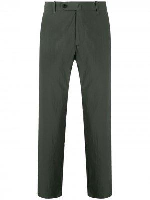 Узкие брюки чинос средней посадки Incotex. Цвет: зеленый