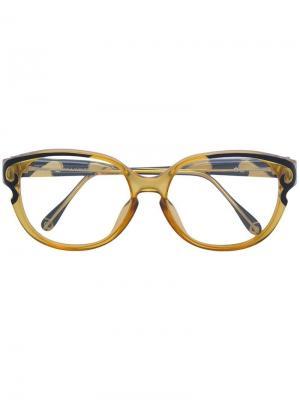 Очки в контрастной оправе Christian Lacroix Vintage. Цвет: желтый