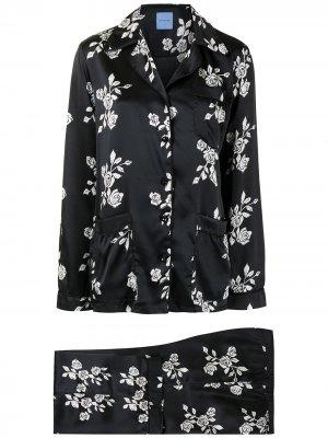 Пижама с принтом Macgraw. Цвет: черный