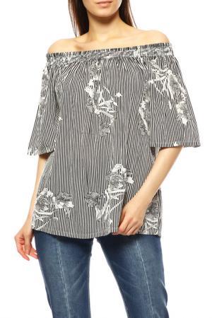 Блуза KAFFE. Цвет: черный