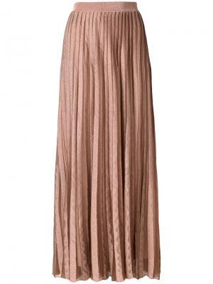 Длинная плиссированная юбка Antonino Valenti. Цвет: нейтральные цвета