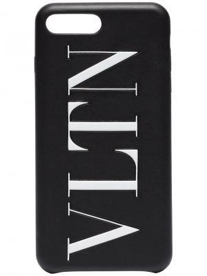 Чехол для iPhone 8+ Valentino. Цвет: черный