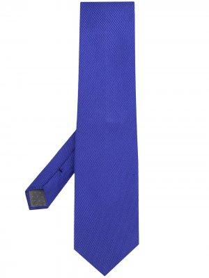 Фактурный галстук Archive Ferré 1990-х годов Gianfranco Pre-Owned. Цвет: синий