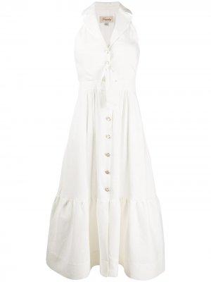 Платье-рубашка Sophia без рукавов с поясом на завязках Temperley London. Цвет: белый