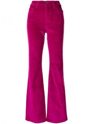 Вельветовые брюки клеш Current/Elliott. Цвет: розовый