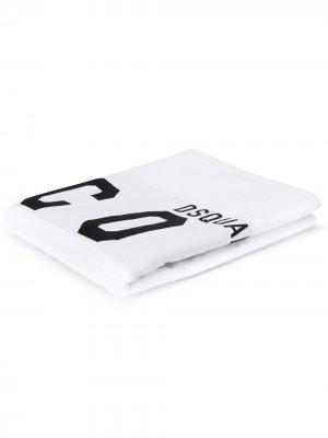 Полотенце с принтом Dsquared2. Цвет: белый