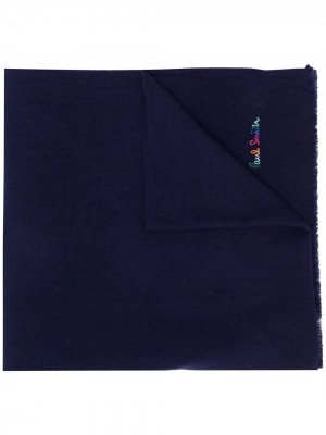 Вязаный шарф с логотипом Paul Smith. Цвет: синий