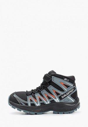Ботинки трекинговые Salomon. Цвет: черный